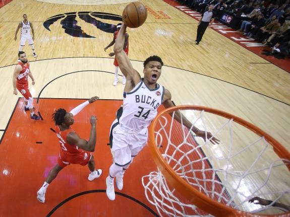Toronto Raptors fall to the Milwaukee Bucks