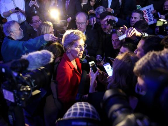 U.S. Senator And Presidential Candidate Elizabeth Warren Visits New Hampshire