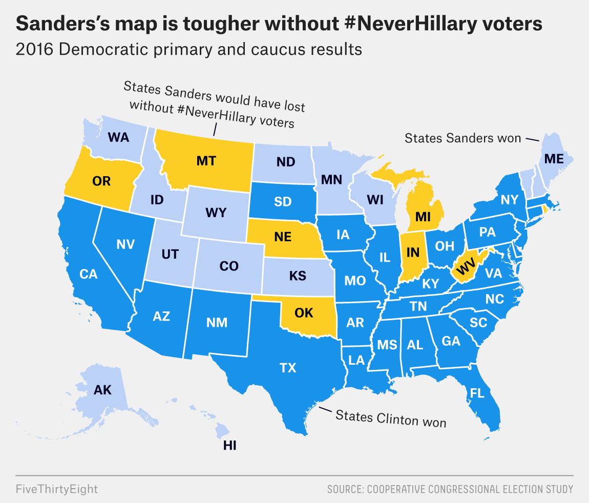 How Many Delegates Per State Map.How Bernie S 2020 Map Might Change Without The Neverhillary Vote