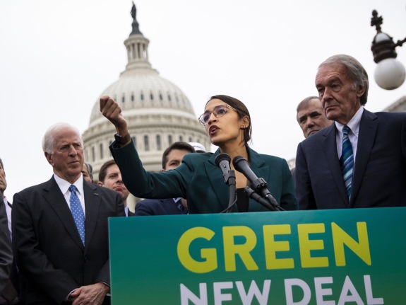 Representative Alexandria Ocasio-Cortez Announces Green New Deal Legislation