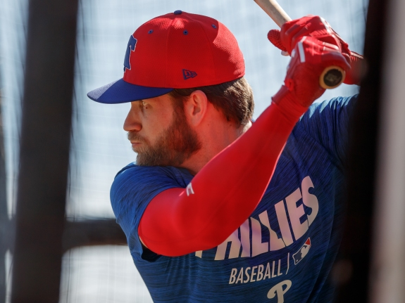 Bryce Harper First Phillies Workout
