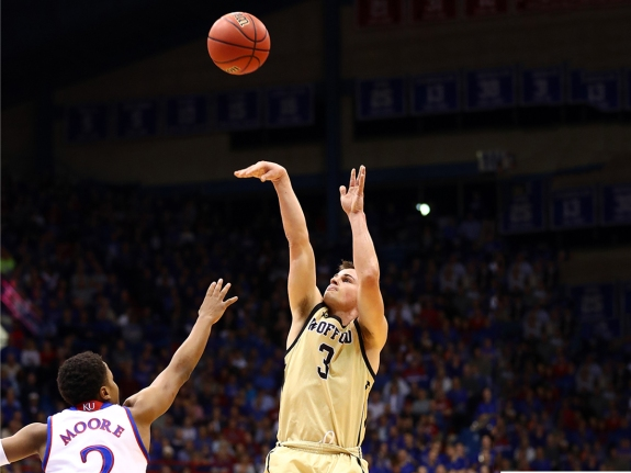 NCAA Basketball: Wofford at Kansas