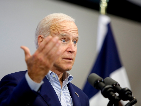 Democratic Presidential Candidate Former Vice President Joe Biden Holds Campaign Event In Davenport, Iowa