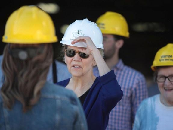 Presidential Candidate Elizabeth Warren Tours Iowa Ethanol Facility