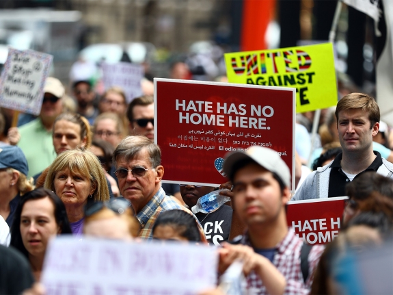 Protest Against Racism and Hate in Chicago