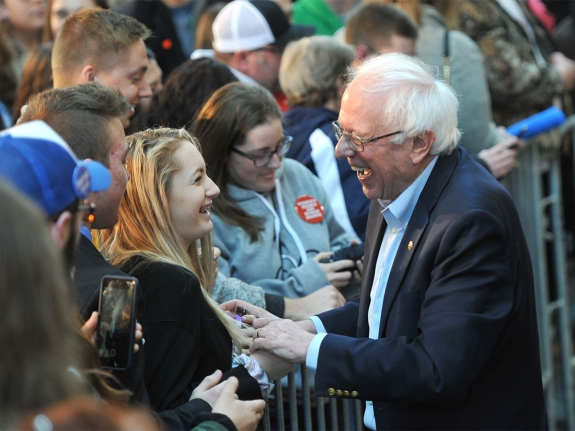 Bernie Sanders Holds Campaign Rally In Des Moines