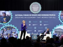 Democratic Presidential Candidates Attend Forum On Wages And Working People