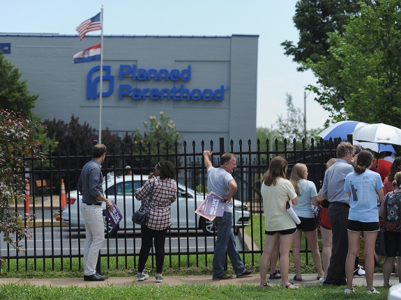 Anti-Abortion Groups Rally Outside Last Planned Parenthood Clinic In Missouri