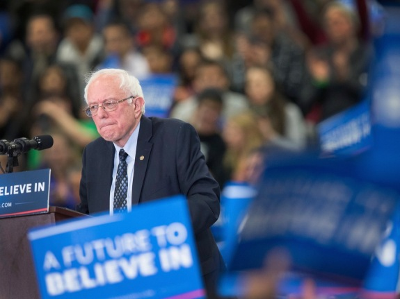 Democratic Candidate Bernie Sanders Campaigns In Michigan Ahead Of State's Primary
