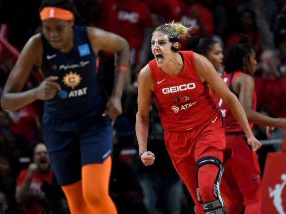 Final game of the WNBA championship series between the Washington Mystics and the Connecticut Sun