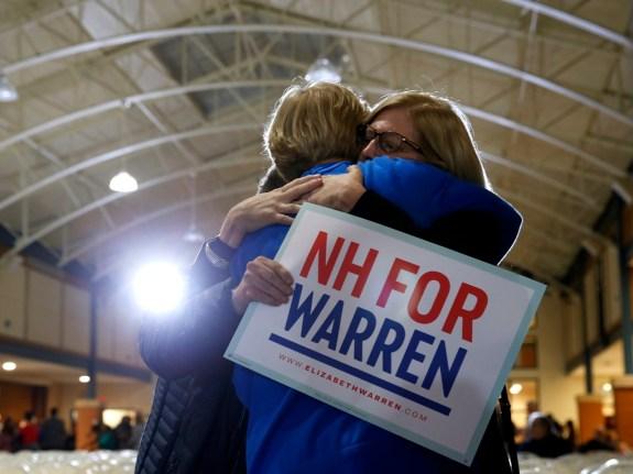 U.S. Senator And Presidential Candidate Elizabeth Warren Campaigns In NH