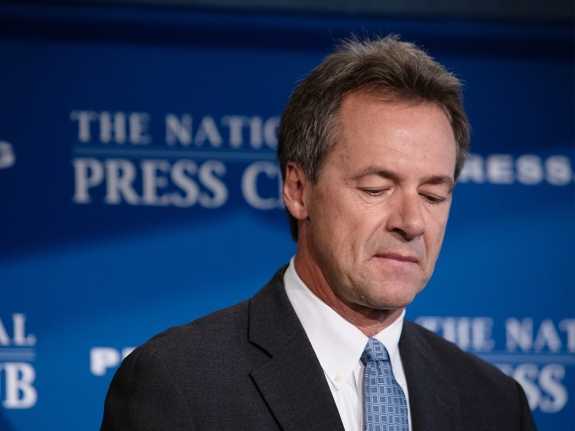 Democratic Presidential Candidate Steve Bullock Holds News Conference On Gun Violence At National Press Club