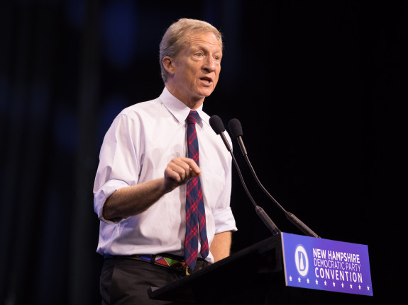 What The Heck Is Going On With Tom Steyer's Poll Numbers?