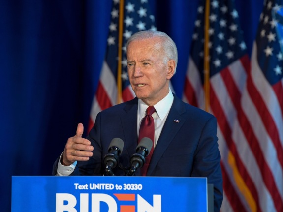 Presidential Candidate Joe Biden Delivers Foreign Policy Statement In New York, US