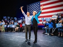 Elizabeth Warren and Julian Castro rally in Brooklyn