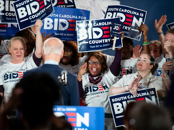 Presidential Candidate Joe Biden Holds Rally In SC On Night Of NH Primary