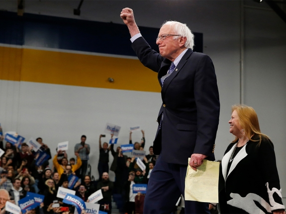 Bernie Sanders Claims Victory in New Hampshire