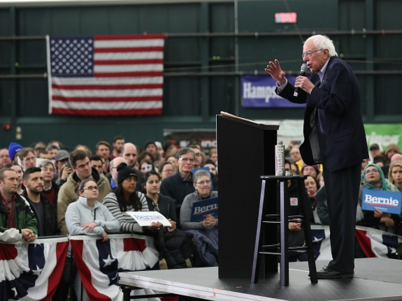 Presidential Candidate Bernie Sanders Holds Rally Ahead Of New Hampshire Primary