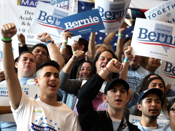 Democratic Presidential Candidate Bernie Sanders Holds Rally In  Las Vegas