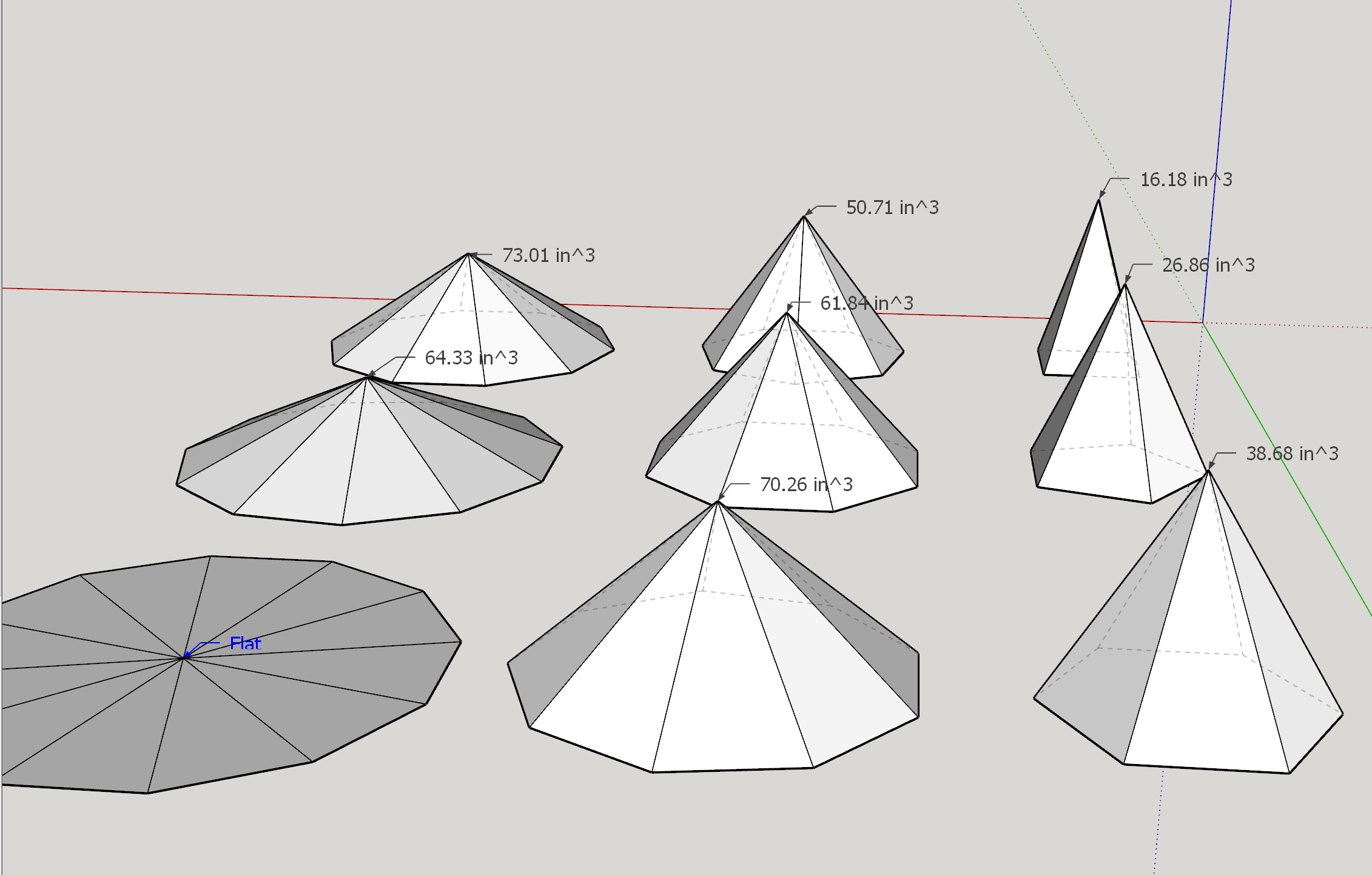 3d rendering of the possible pyramids