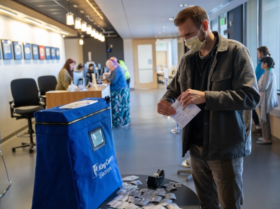 Election Officials Process Primary Votes In Coronavirus-Hit King County WA