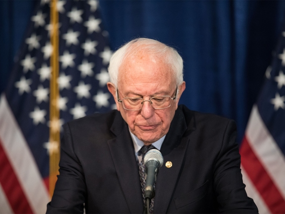 Democratic Presidential Candidate Sen. Bernie Sanders Speaks To The Media In Burlington, Vermont