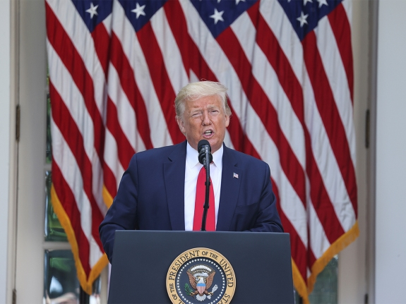 U.S. President Trump hosts Rose Garden event on treating diabetes at the White House during coronavirus disease (COVID-19) outbreak in Washington
