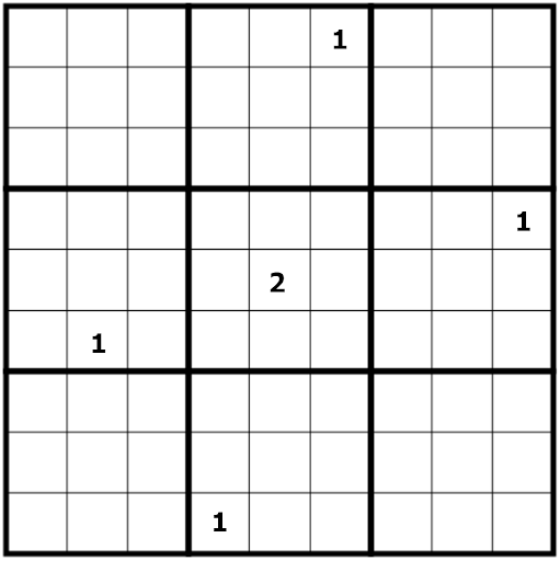an optimal initial sudoku arrangement that is an impossible grid, with the minimal sum of numbers