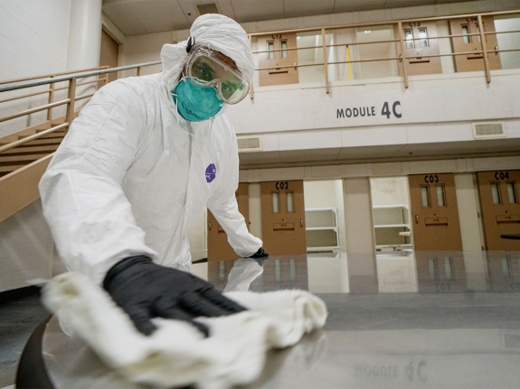San Diego County Jail Inmates Disinfect Cells To Prevent COVID-19 Spread