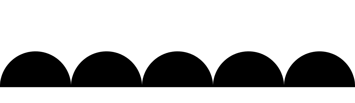 "semicircular ""hills"" of ink deposited by a marker with a circular tip"