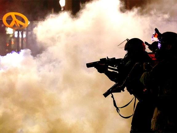 Tear-gas protest in Portland