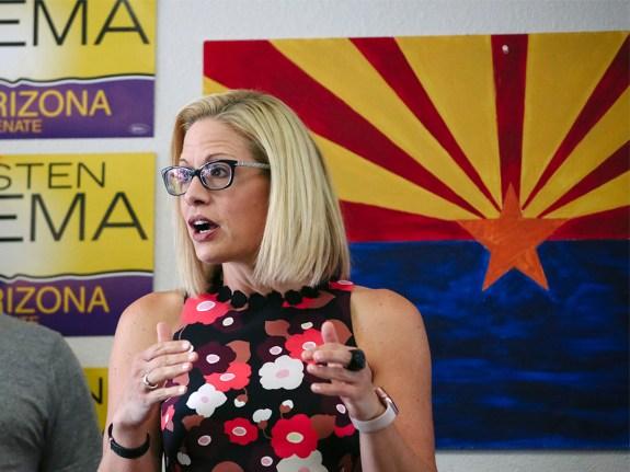 Democratic U.S. Senate Candidate Krysten Sinema Attends Get Out The Vote Campaign Event