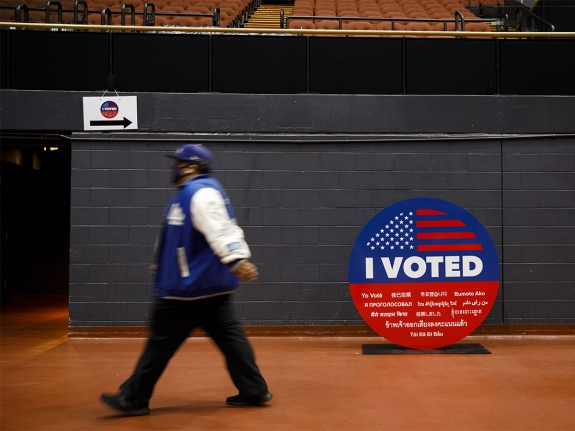 California Residents Cast Ballots During Early Voting For U.S. Presidential Election