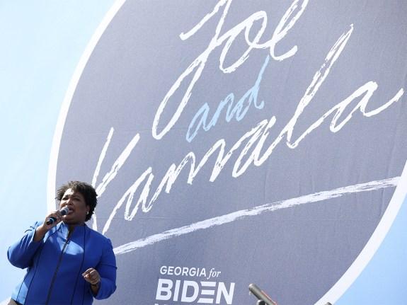 Vice Presidential Nominee Kamala Harris Campaigns In Georgia