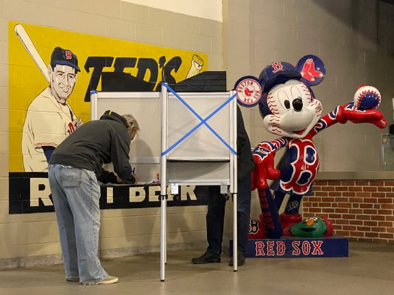 Ted Williams voting booths 1