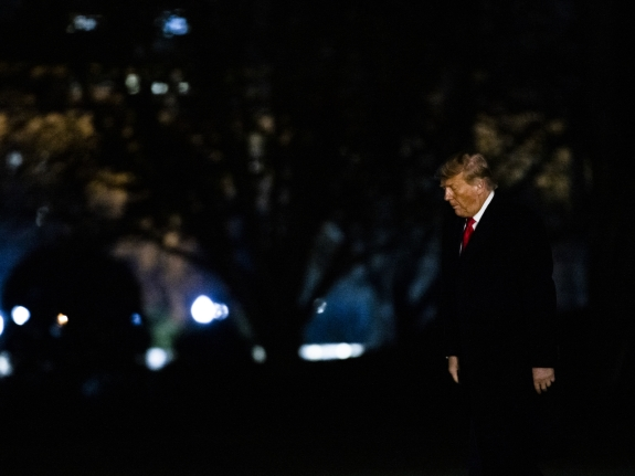 President Trump Arrives To White House After Texas Travel