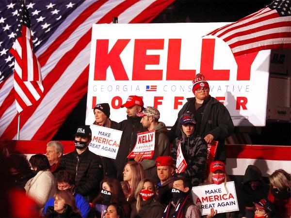 President Trump holds campaign rally in Dalton, Georgia