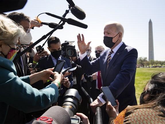 President Biden Arrives To White House After Camp David Travel