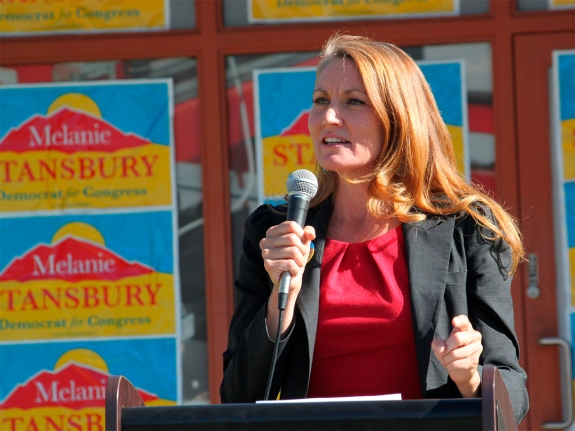 Democratic congressional candidate Melanie Stansbury