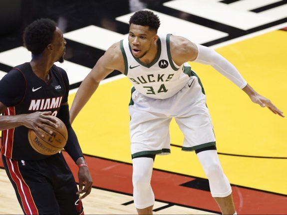 Milwaukee Bucks v Miami Heat – Game Three
