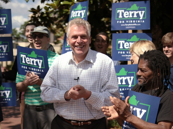 Terry McAuliffe Campaigns For Second Bid As Virginia Governor