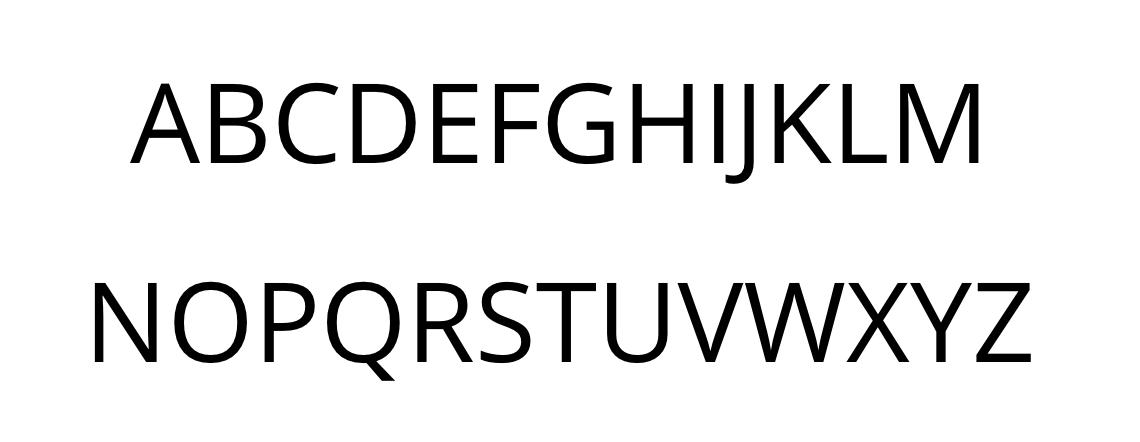 alphabet, upper case in sans serif font.