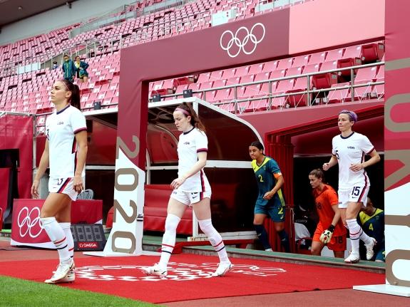 United States v Australia: Women's Football – Olympics: Day 4
