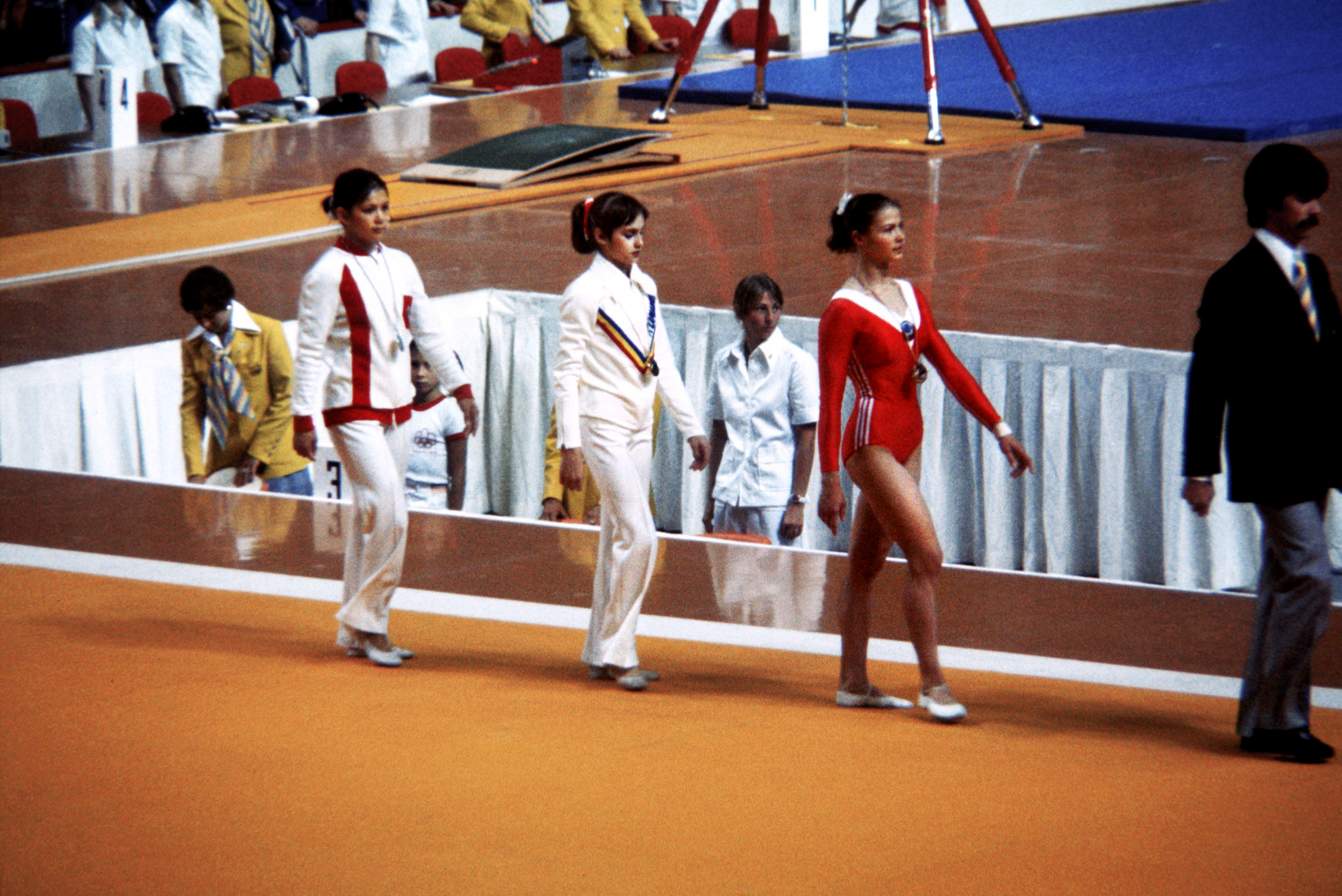 The women's all-around medalists in 1976
