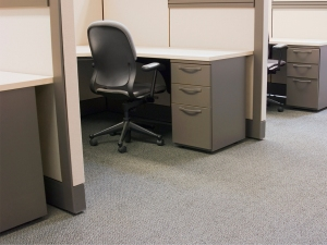 Row of Office Cubicles