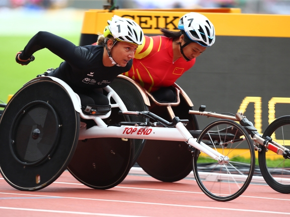 Swiss Paralympic athlete Manuela Schaer