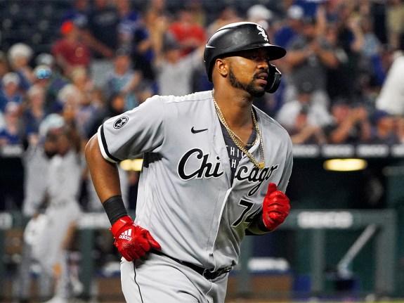 Chicago White Sox left fielder Eloy Jimenez
