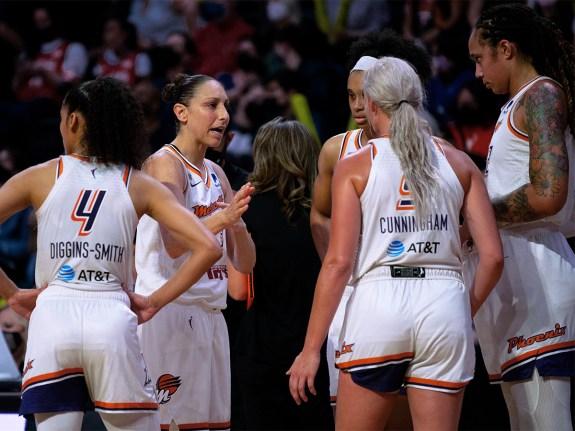 Womens National Basketball Association Playoff game between Seat
